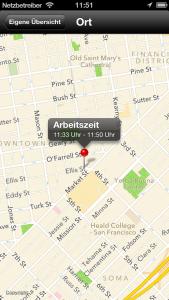 Zeiterfassung-App-Maps-ort